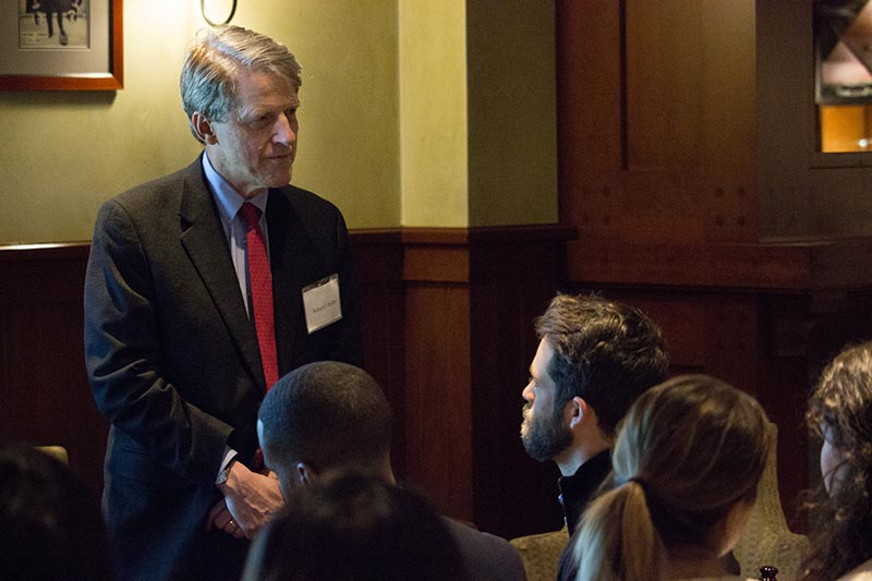 Marjorie Deane Lectures - Professor Robert J. Shiller meets with BER students to answer questions about how journalists cover the economy.