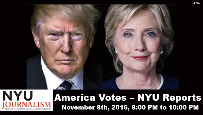 America Votes – NYU Reports: Live Election Night Broadcast