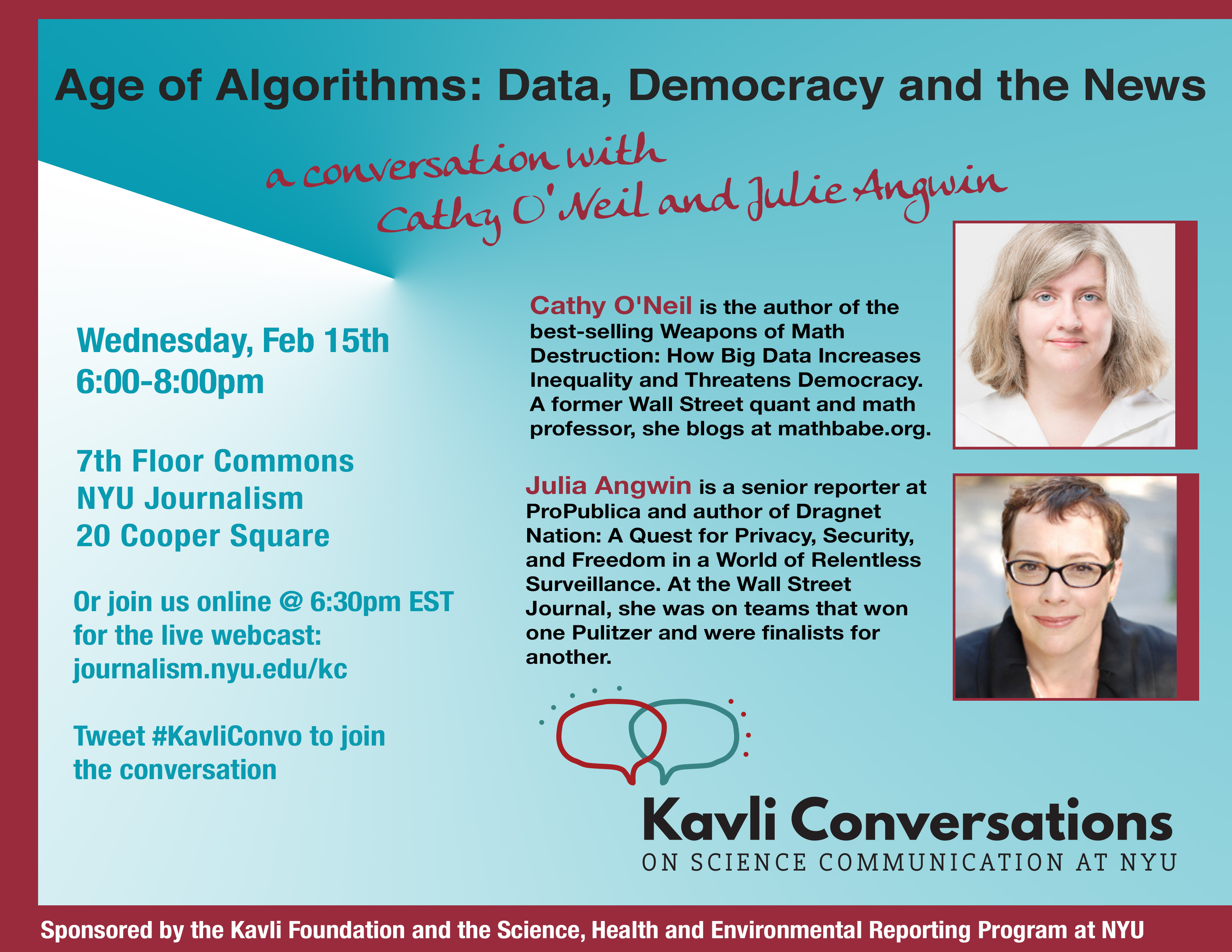 Age of Algorithms: Data, Democracy and the News - Event Poster 15 Feb 2017