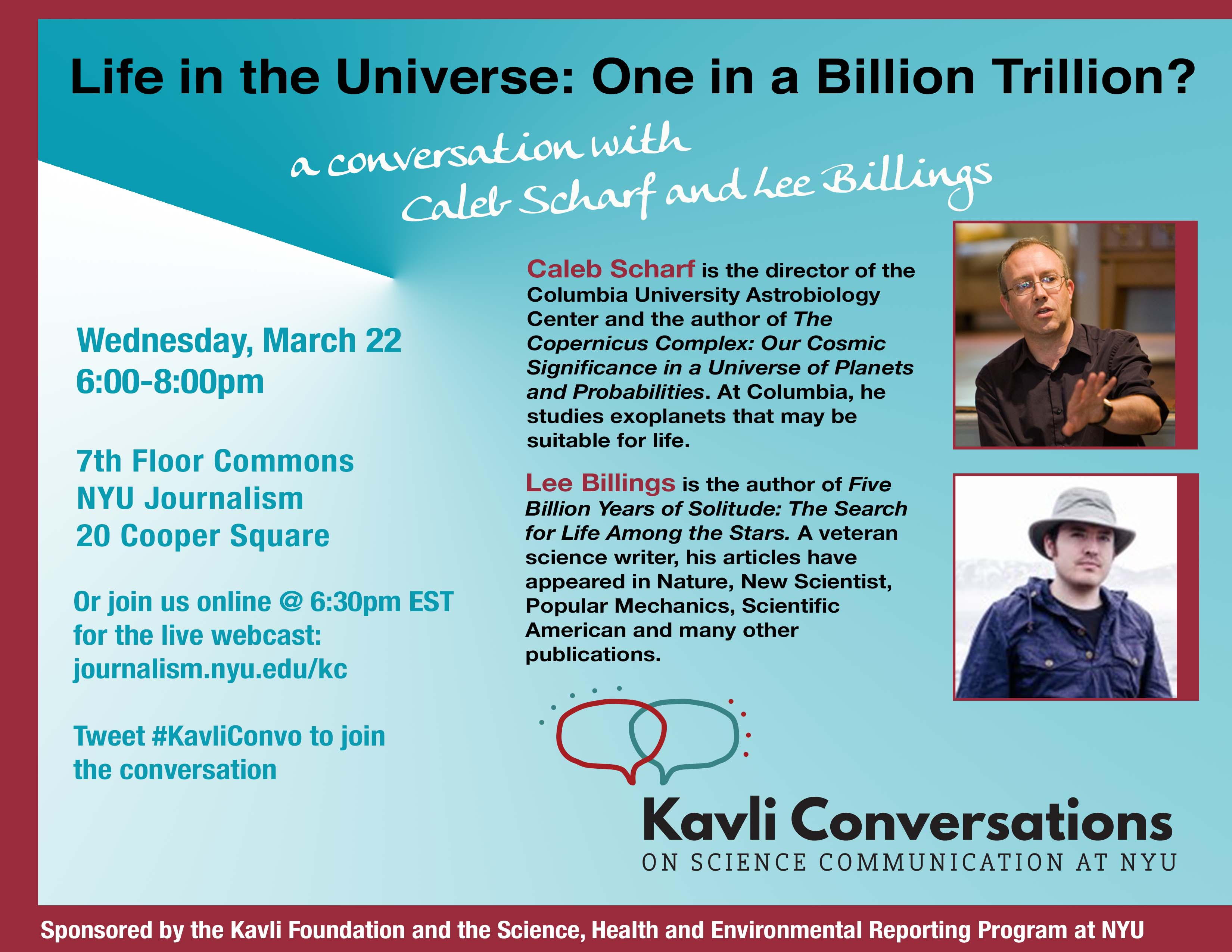 Life in the Universe: One in a Billion Trillion? - Event Poster 22 Mar 2017