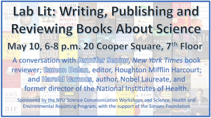 Lab Lit: Writing, Publishing, and Reviewing Books About Science - Event Poster May 10th 2017