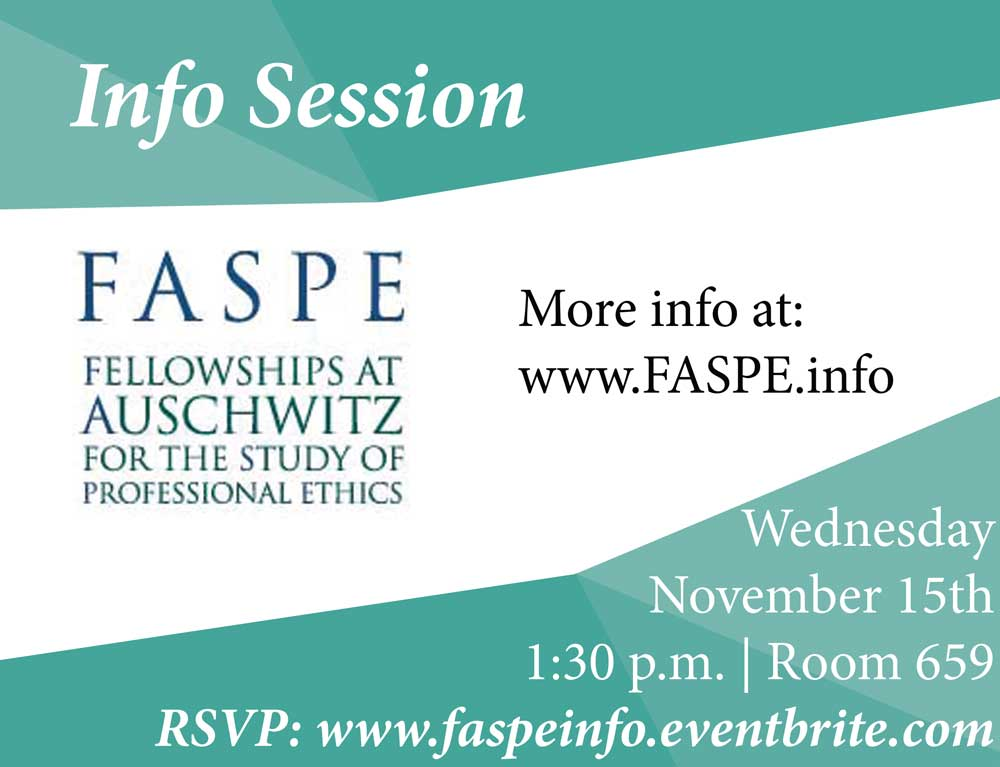 FASPE Journalism Info Session - Event Poster 2017