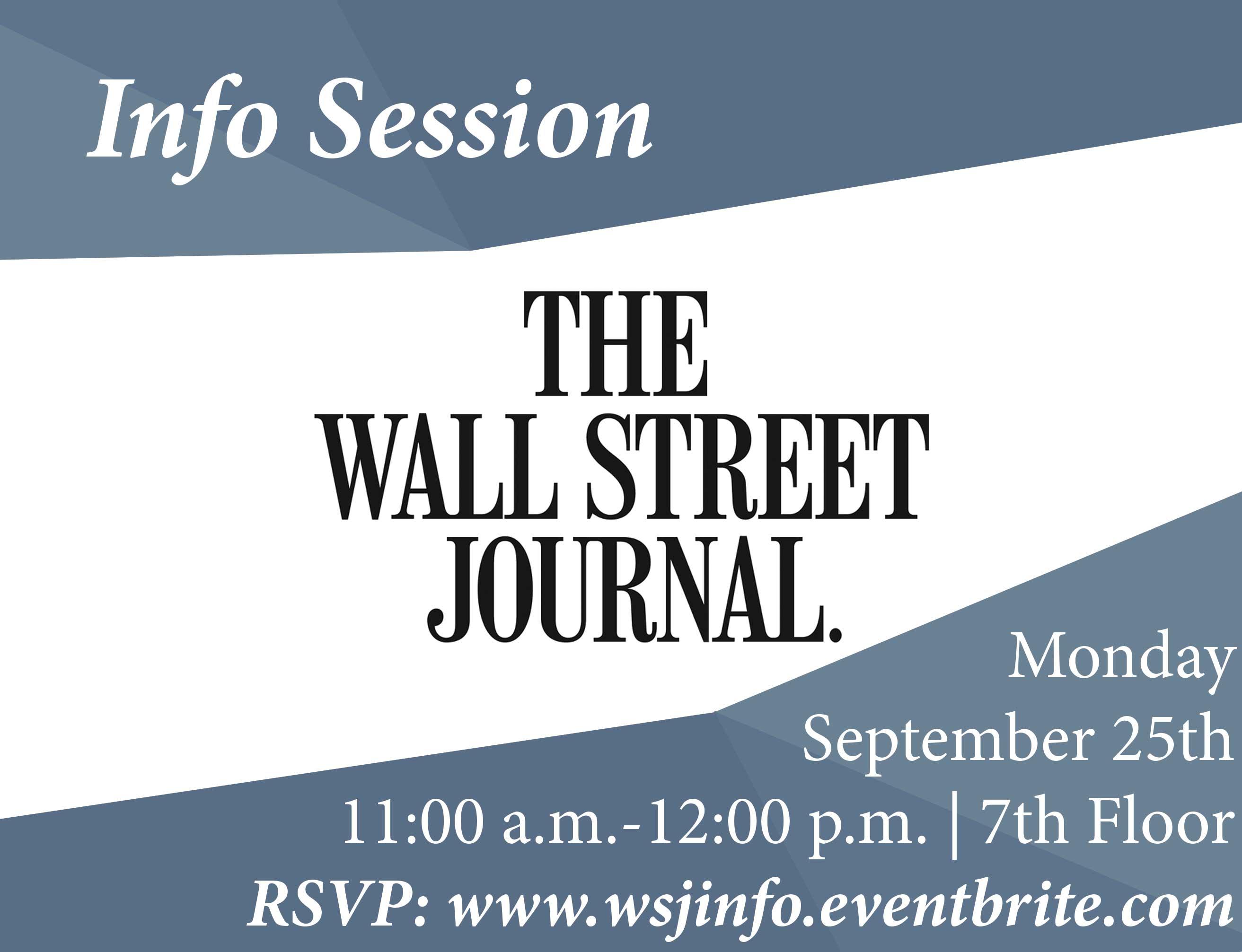 Wall Street Journal Info Session NYU Journalism