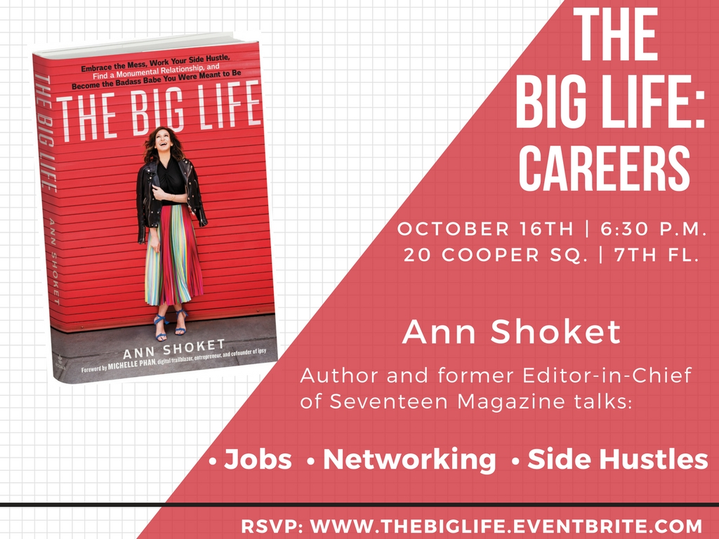 Big Life Careers with Ann Shoket - Event Poster 2017