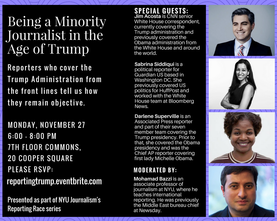 Being a Minority Journalist in the Age of Trump - Event Poster 2017