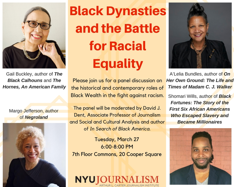 Black Dynasties and the Battle for Racial Equality - Event Poster 2018