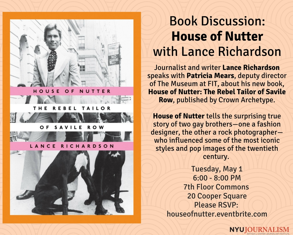 Discussing House of Nutter with author Lance Richardson - Event Poster 2018