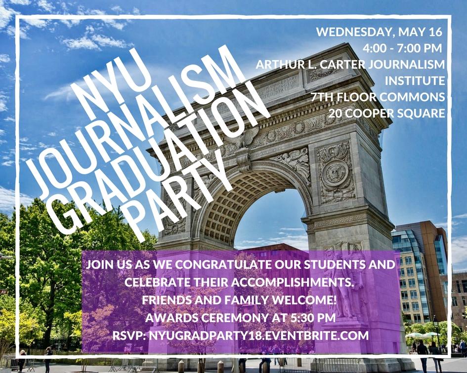 NYU Journalism Graduation Party 2018