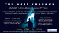Event Poster: The Most Unknown: A Screening