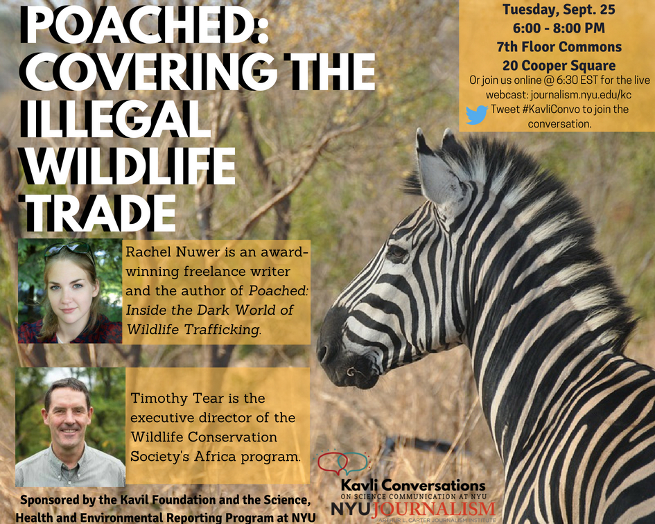 Event Poster: Poached: Covering the Illegal Wildlife Trade