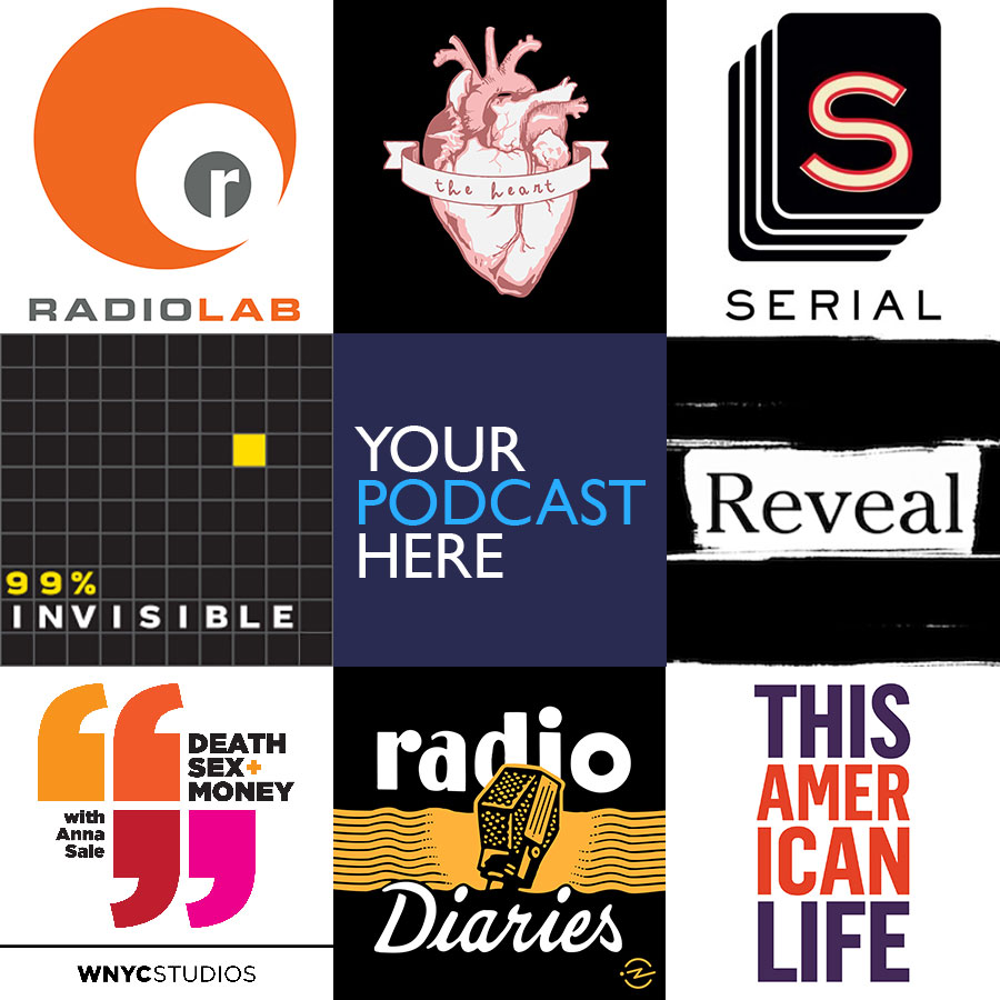 Podcast Logos Collage - Your Podcast Here