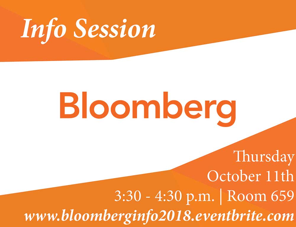 Bloomberg Info Session - Event Poster 2018