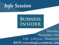 Business Insider Info Session - Event Poster 2018