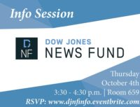 Dow Jones News Fund Info Session - Event Poster 2018