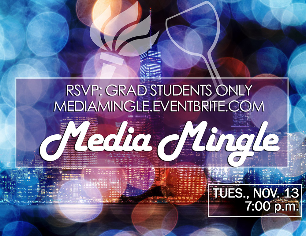 Media Mingle 2018 - November 13, 7:00pm - Event Poster