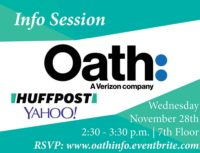 Oath Info Session - Event Poster 2018