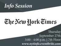 New York Times Info Session - Event Poster 2018