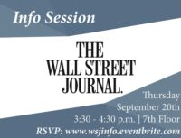 Wall Street Journal Info Session - Event Poster 2018