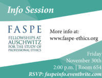 FASPE Info Session - Event Poster - 30 Nov 2018 2:00pm - Room 654