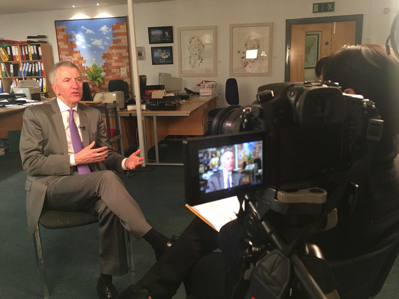 Sinn Fein politician Máirtin Ó Muilleoir discusses expansion of the Irish language in Northern Ireland