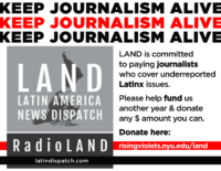 Keep journalism alive. LAND is committed to paying journalists who cover underreported Latinx issues. Please help fund us another year and donate any amount you can. Donate here: risingviolets.nyu.edu/land