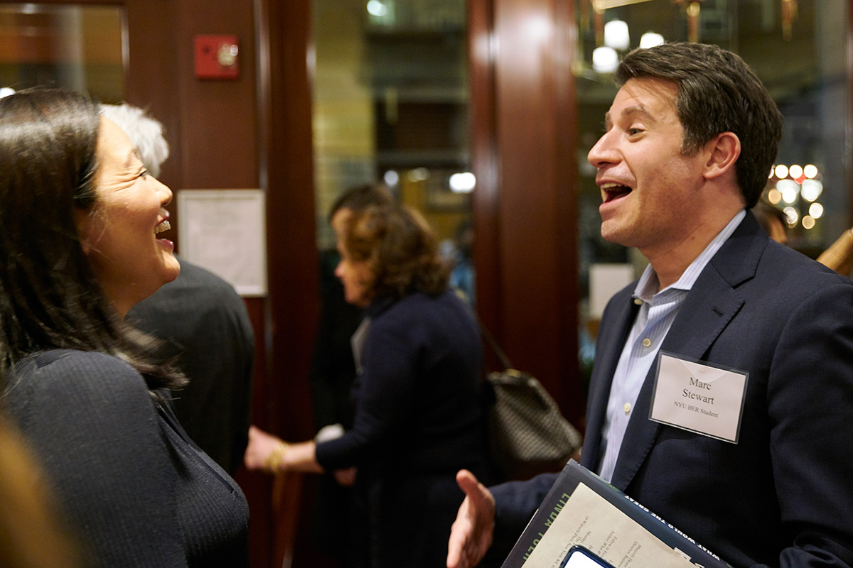 Professor Linda Yueh and BER student Marc Stewart