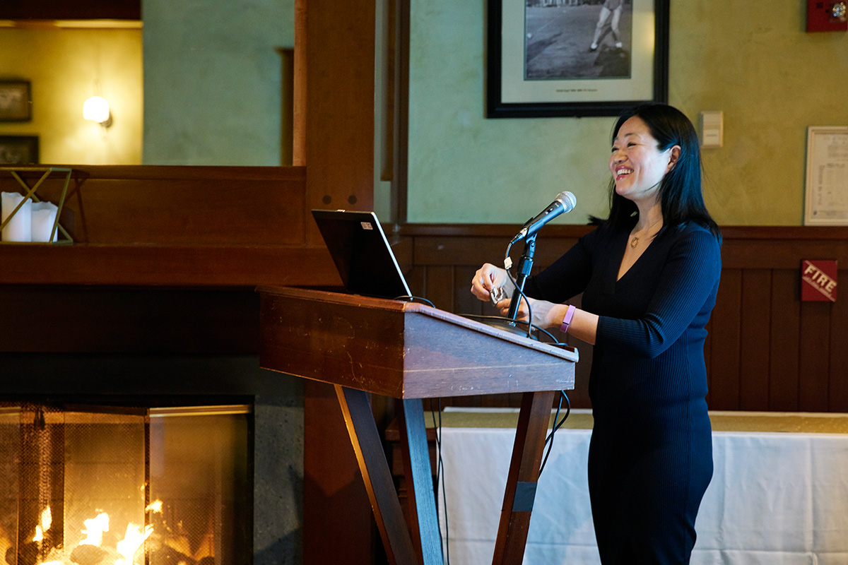 Professor Linda Yueh (Photographs by Emily Cameron)