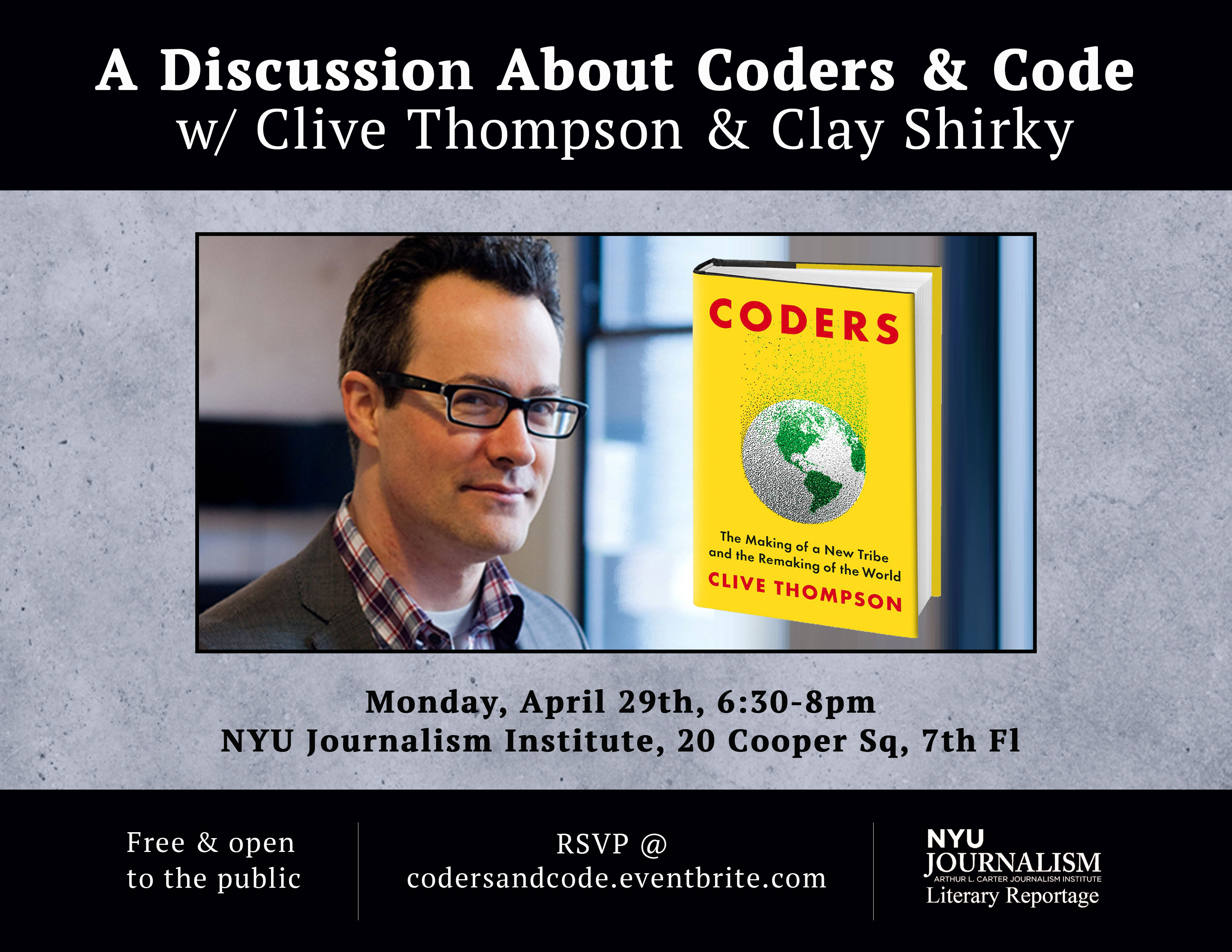 A Discussion About Coders & Code w/ Clive Thompson & Clay Shirky