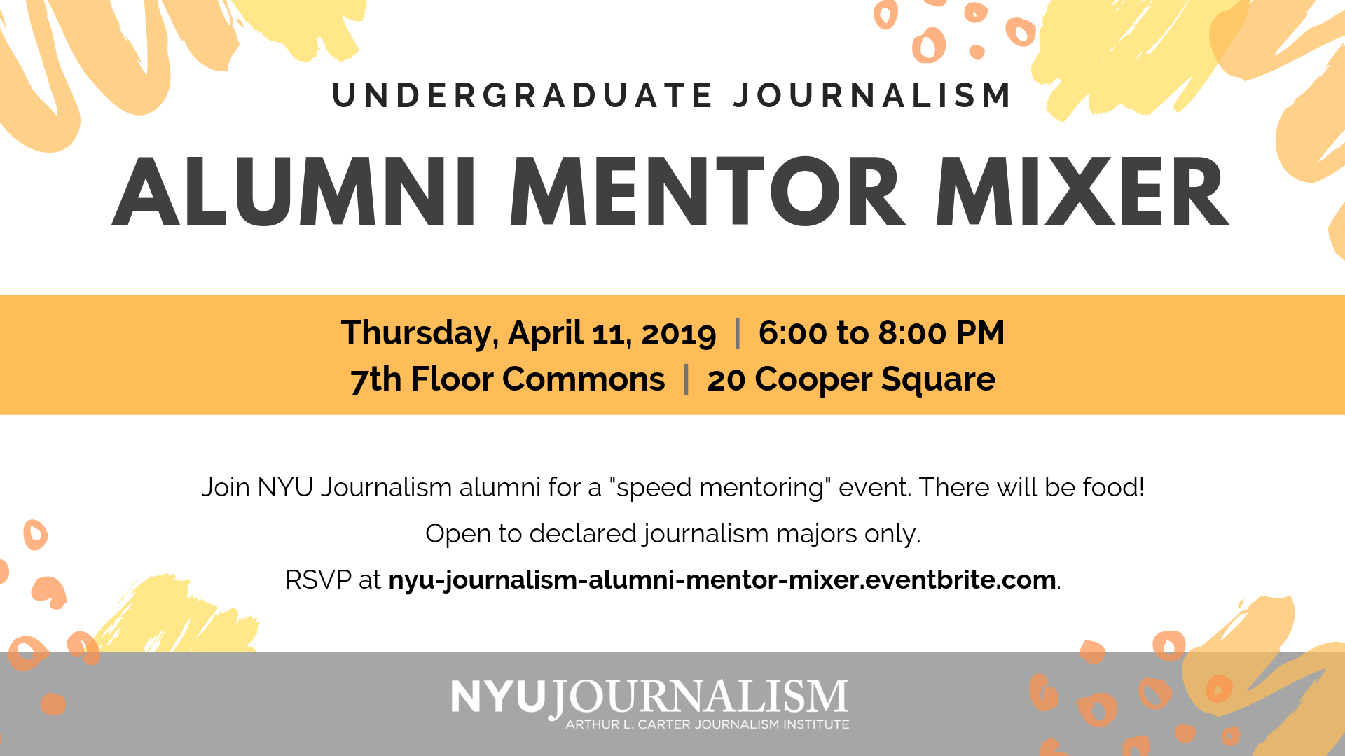 Undergraduate Journalism Alumni Mentor Mixer