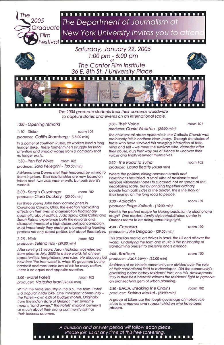 NewsDoc Film Festival 2005 Poster