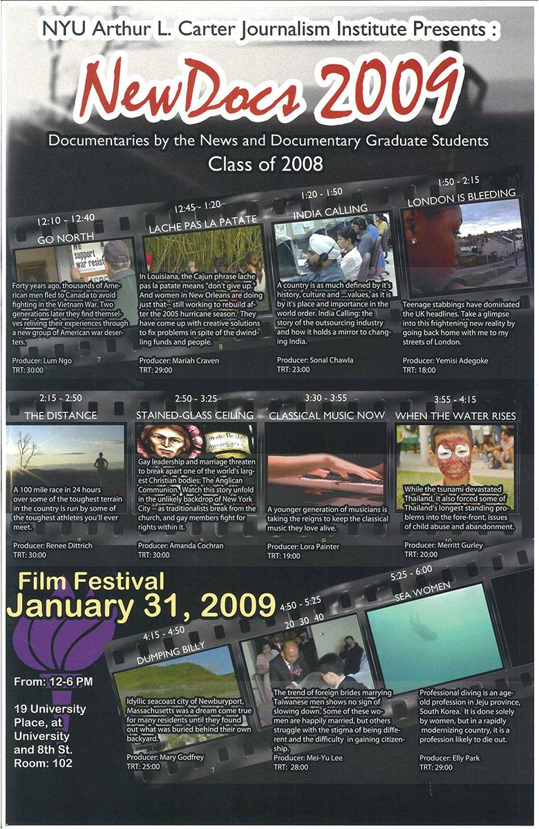 NewsDoc Film Festival 2009 Poster