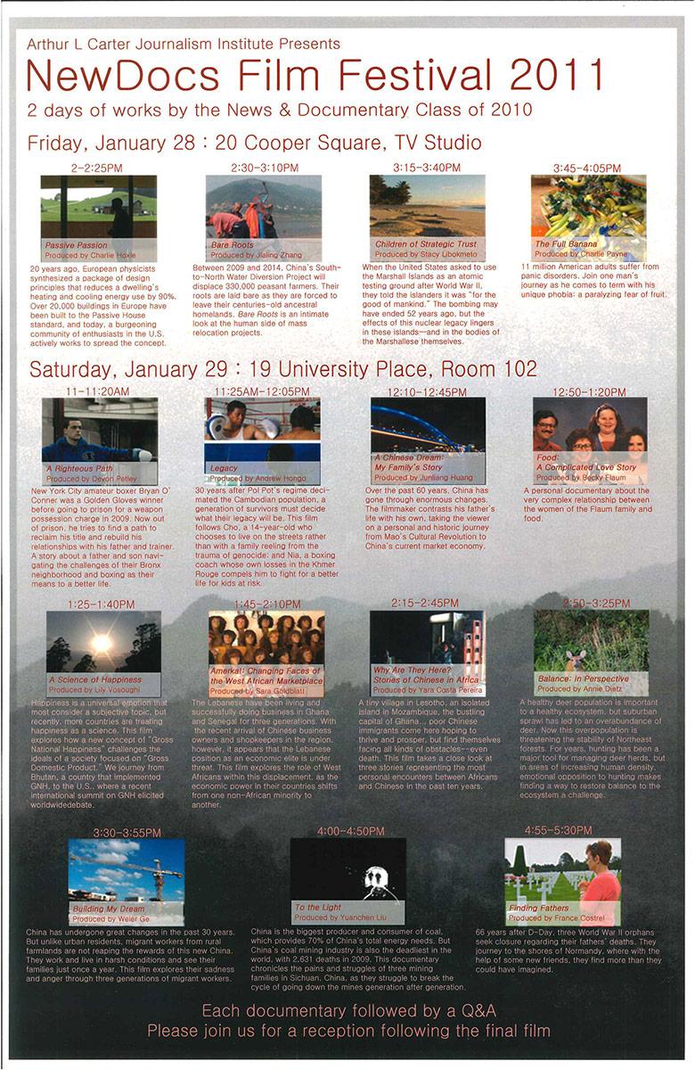 NewsDoc Film Festival 2011 Poster