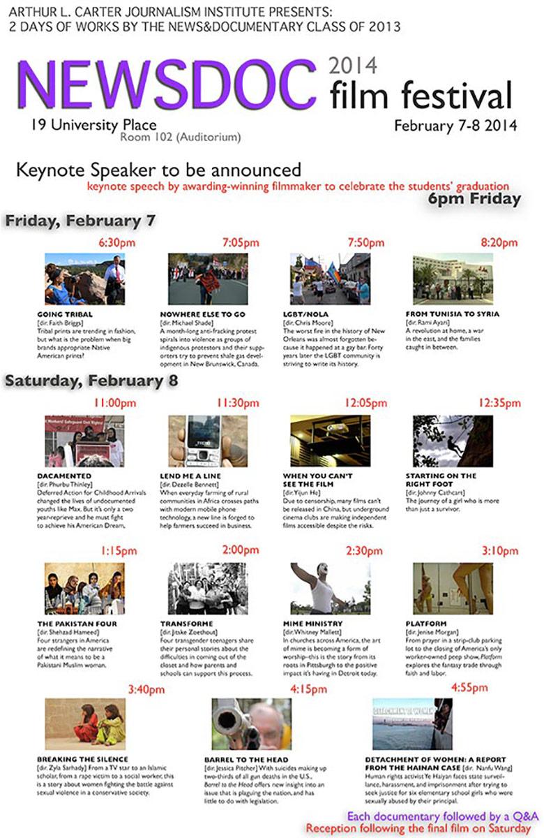 NewsDoc Film Festival 2014 Poster