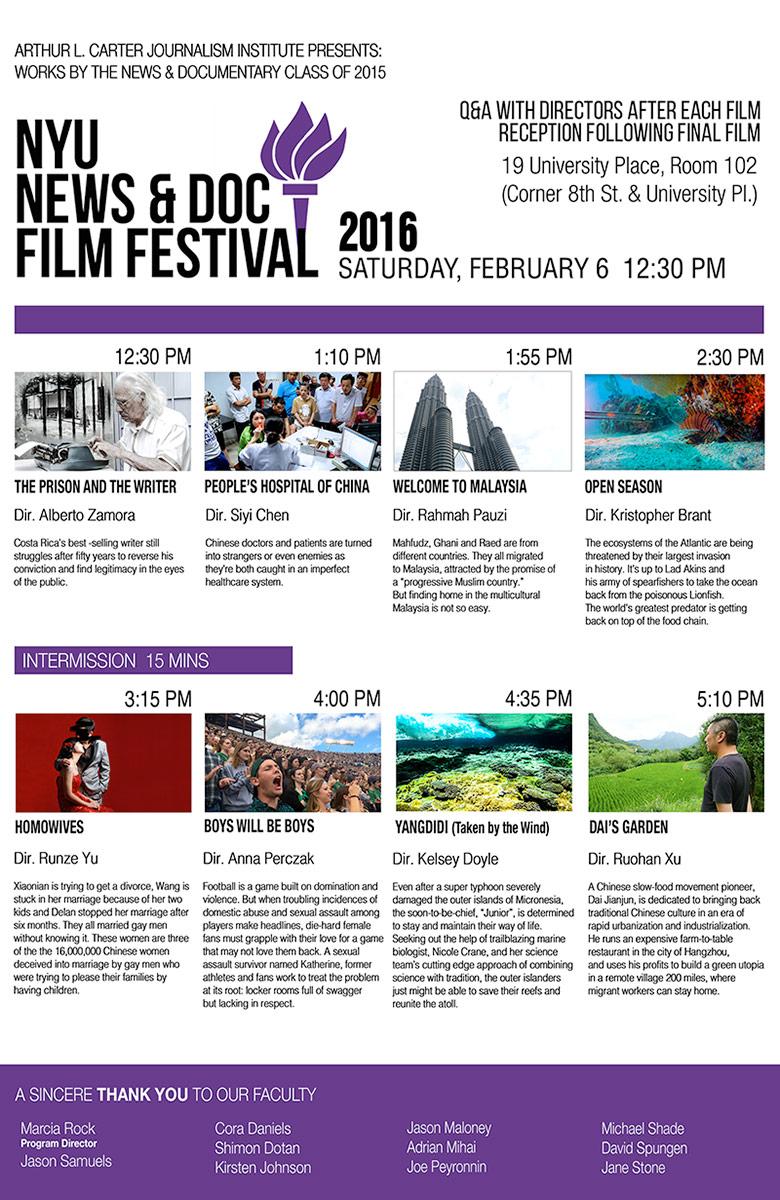 NewsDoc Film Festival 2016 Poster - Click to open PDF