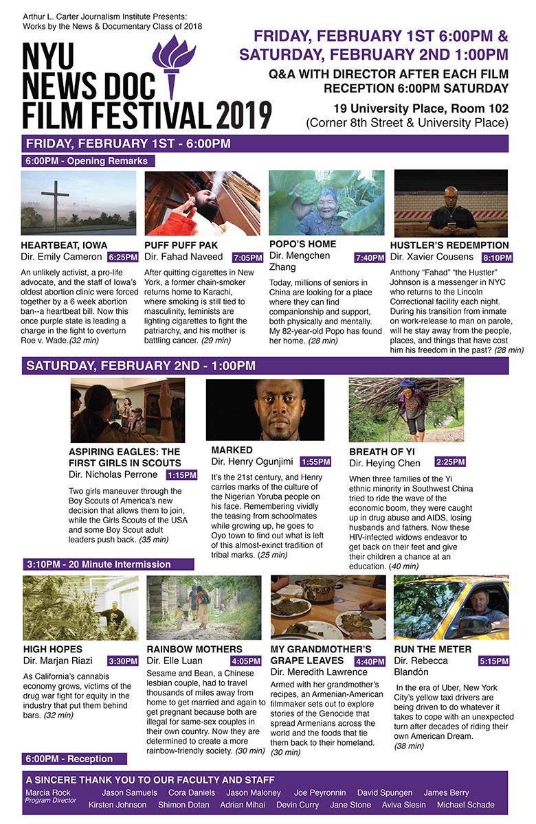NewsDoc Film Festival 2019 Poster - Click to open PDF