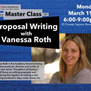 Vanessa Roth Master Class