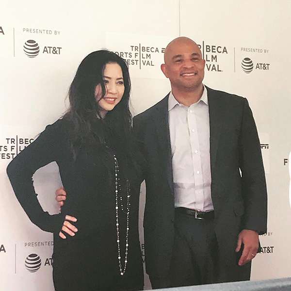 Jason Samuels and Nina Yang