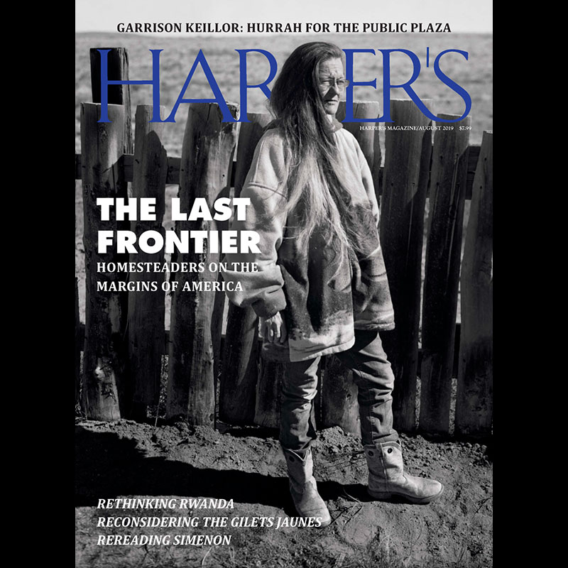 Harper's August Edition Cover