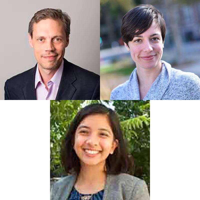 Antonio Regalado(SHERP 1994),Melinda Wenner Moyer(SHERP 2006) andNaveena Sadasivam(SHERP 2013)