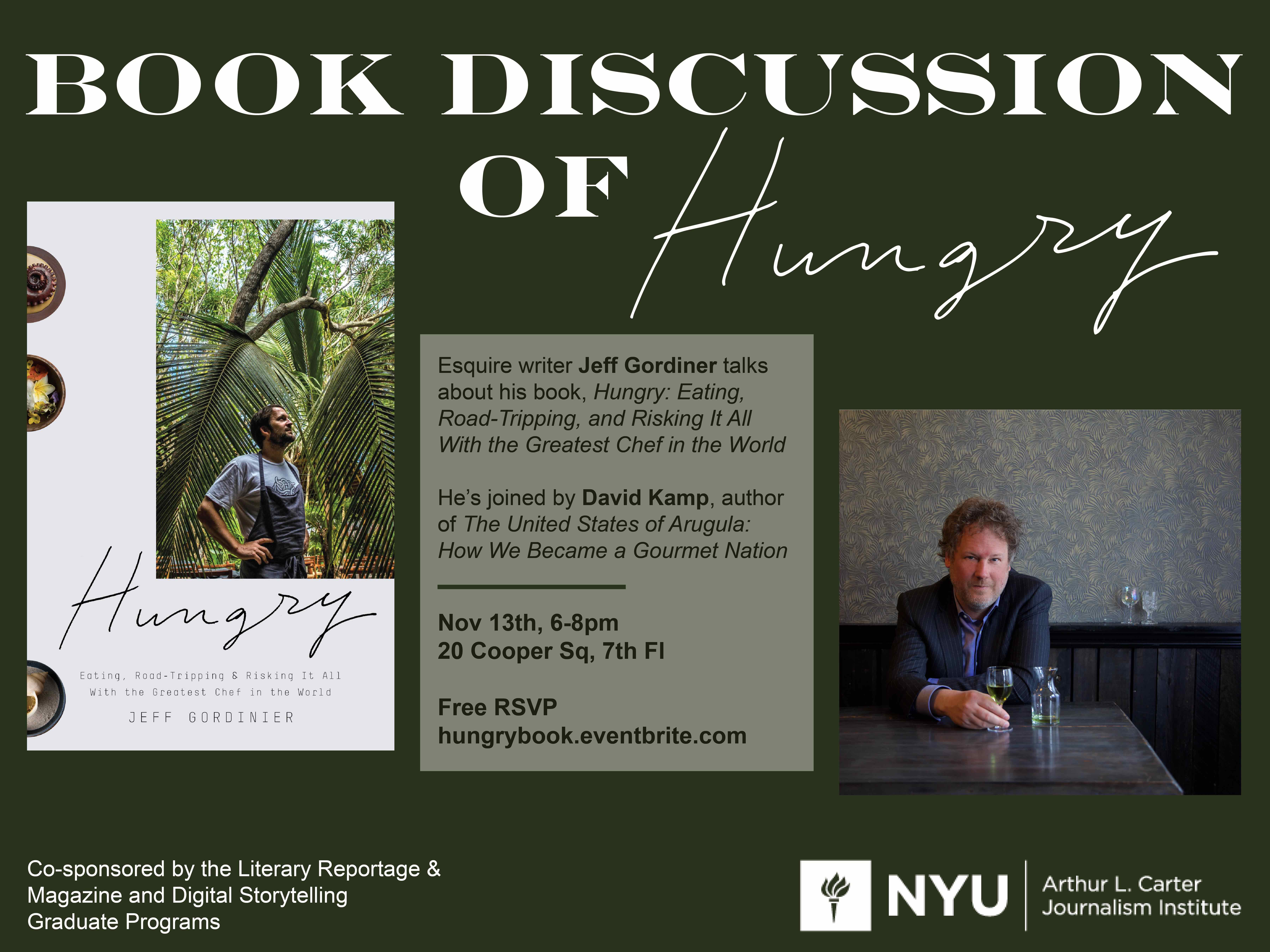 Book Discussion of Hungry