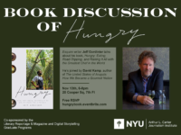 Discussion of Jeff Gordinier Book Hungry - Event Poster