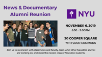 NewsDoc Alumni Reunion - Event Poster