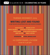 Writing Lost and Found - Event Poster