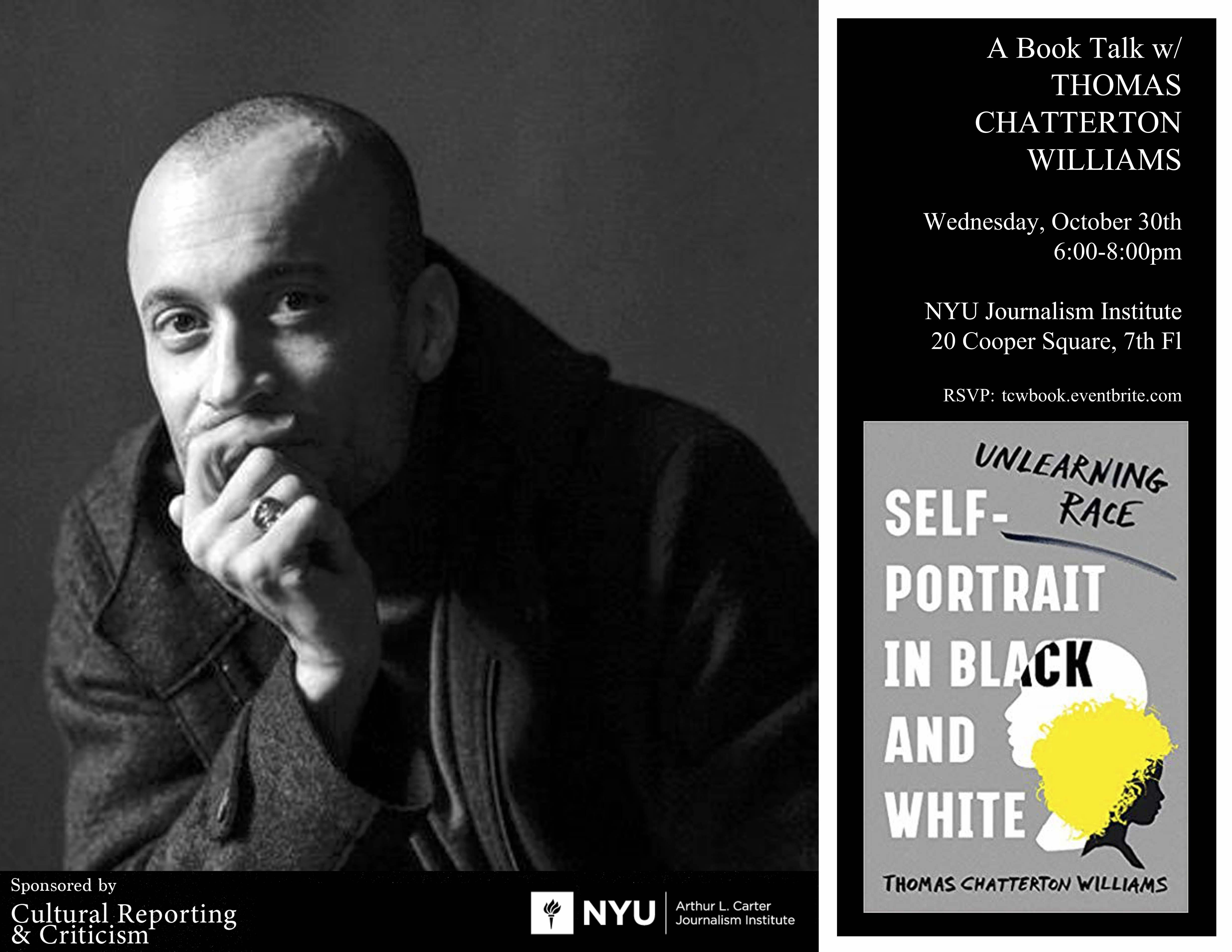 Book Talk With Thomas Chatterton Williams