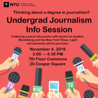 Undergrad Journalism Info Session