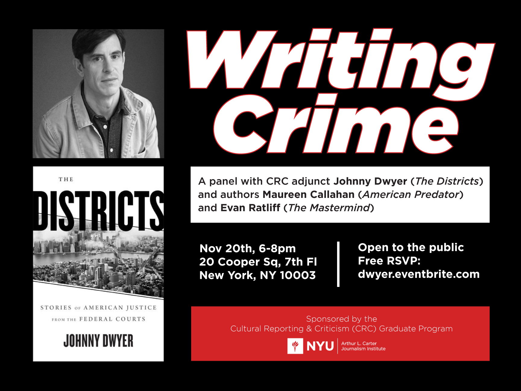 Writing Crime - Event Poster