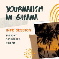 Journalism in Ghana - Event Poster