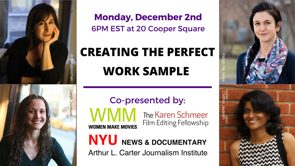 Event Poster - Master Class: Creating the Perfect Work Sample - (read web page for details)