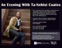 An Evening With Ta-Nehisi Coates - Event Poster (Information in website text)