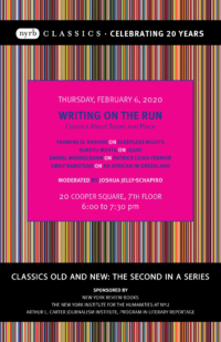 Writing On The Run - Event Poster
